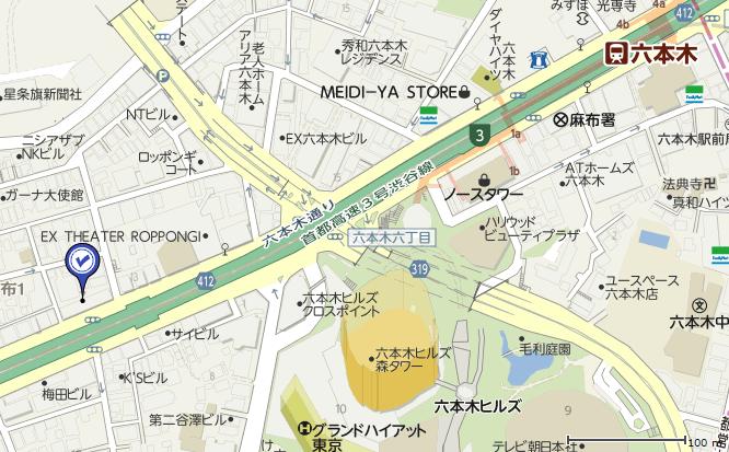 ブランド東京の地図