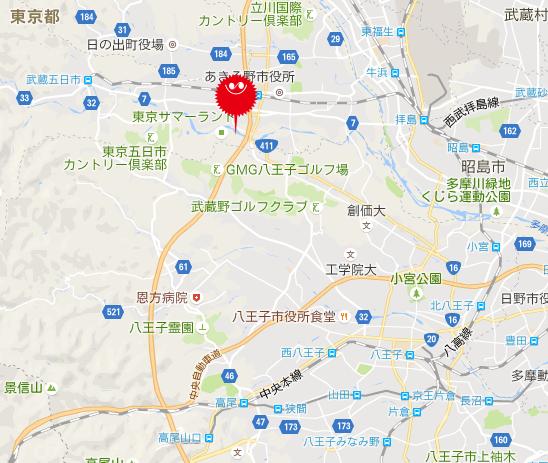 東京サマーランドの場所