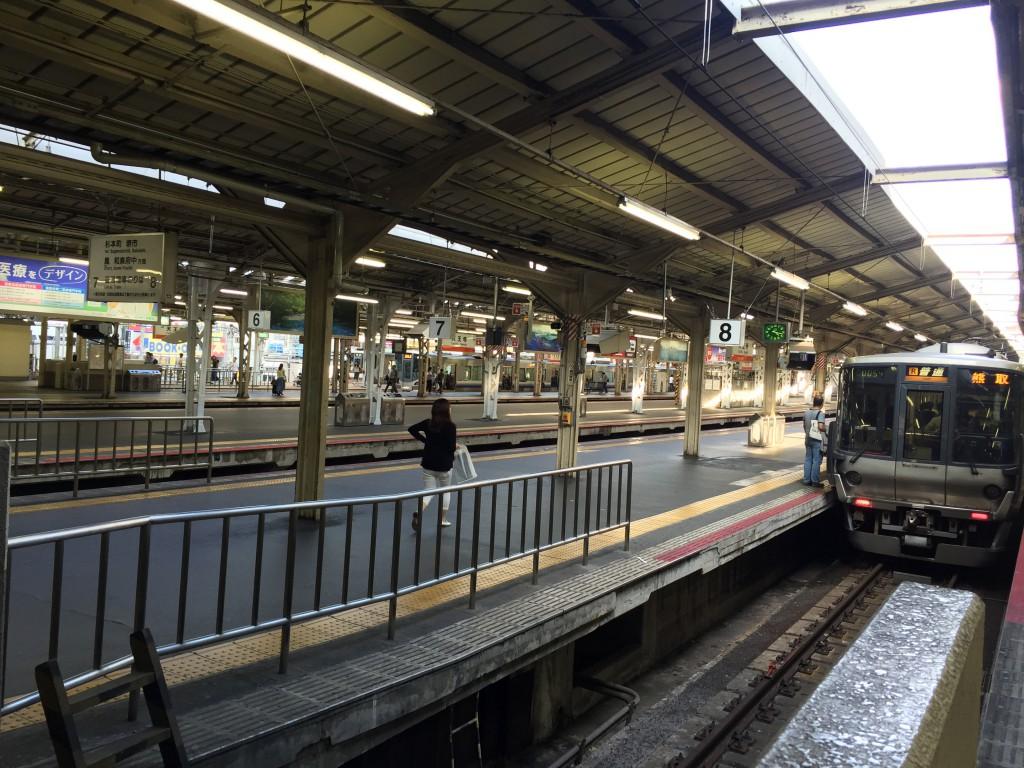 大阪の天王寺駅