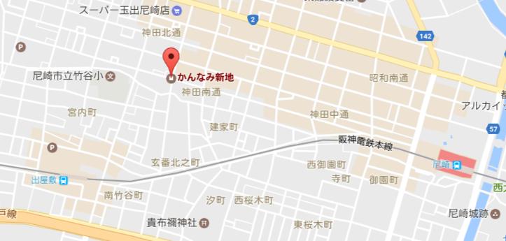 かんなみ新地の場所・地図