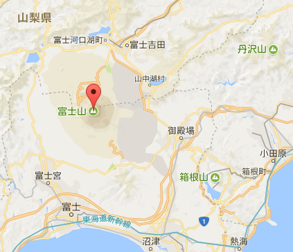 富士山周辺の地図